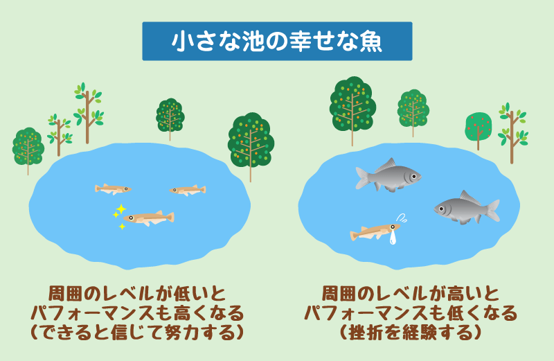 小さな池の幸せな魚